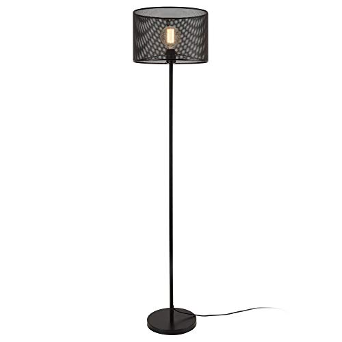 lux.pro Stehleuchte 'Arensburg' 153cm Stehlampe Standleuchte Stand Lampe Metall Schwarz 1x E27 60W