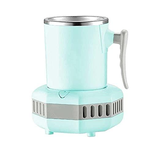 UOOD Taza de Bebidas Cooling & Taza Cooler para el Uso del Escritorio de la Oficina, el Enfriador de Bebidas para el Agua de la Leche de Agua, Cola, Cerveza, latas de Bebidas Viajes (Color : Green)