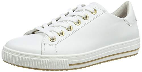 Gabor Shoes Damen Comfort Basic Sneaker, Weiß (Weis(Gold/Blurossohonig) 50), 39 EU