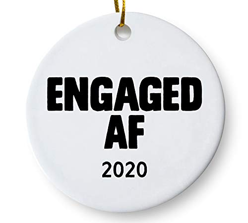 Engaged AF 2020 Funny Engagement Christmas Holiday Gift for Couples 3