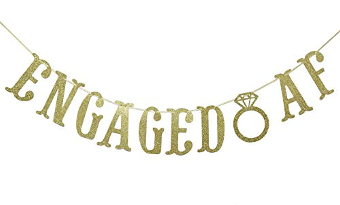 Engaged AF Gold Gliter Banner, Fun Engagement, Bachelorette Party Decorations