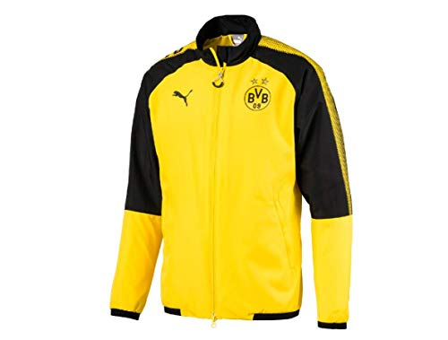 PUMA Bvb Leisure Jkt Without Sponsor Logo With 2 Side Pockets Wit - Chaqueta Hombre