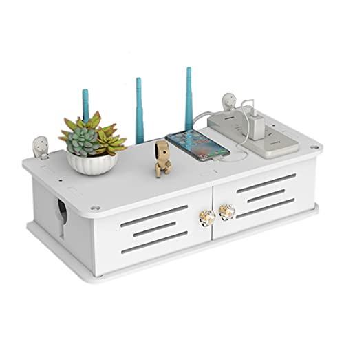 PPGE Home Pared Wi-Fi Router Caja de Almacenamiento Estante Flotante Caja Organizadora...