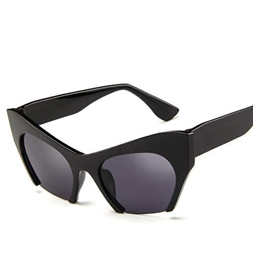 ShZyywrl Gafas De Sol Gafas Retro Ojo De Gato Montura De Gafas Negras Gafas De Sol De Montura Hlaf Transparentes Blackgray