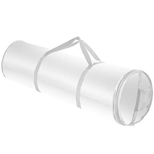 Aufbewahrungs Tasche, Geschenkpapier Organizer Slim Underbed Gift Organizer Wasserdichte PVC-Stoff Geschenkpapier Rollentasche Ornament Tasche Dekoration Box Aufbewahrungsbox (80x22CM)
