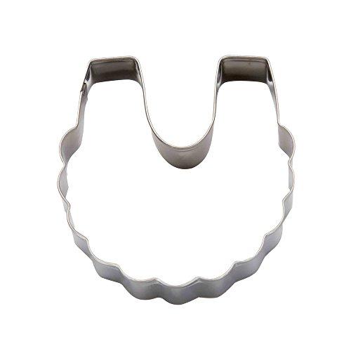 DeColorDulce Bavoir Moule Biscuit, Acier Inoxydable, Argent, 13 x 10 x 3 cm