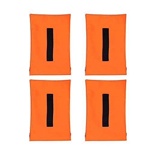 AEROBATICS Sandsack Robuster Sandsack Für Fußballtore Sandsack-Gewichtssack-Bodenanker Sportnetz Sandsäcke 4er Set - Gewichtsanker Für Baseballnetze, Fußballnetze(Orange)