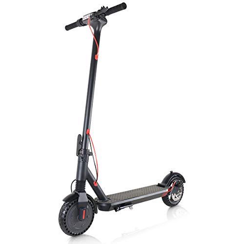 Windgoo Elektroroller, Faltbarer E-Scooter mit 350W Motor, Maximale Geschwindigkeit 20 km/h Anti Rutsch Reifenhöhe einstellbar, Elektro Scooter für Teenager und Erwachsene (M12)