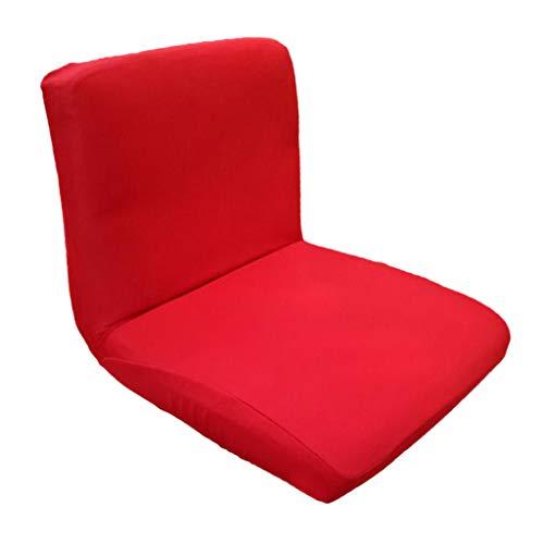 Perfeclan Couverture De Tabouret De Siège à Dossier Bas Chaise pour Mariage Décoration - Rouge