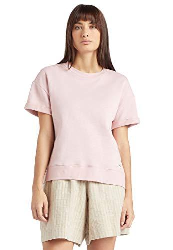 khujo Damen Sweatshirt Malea einfarbig Kurzarm Rundhalsausschnitt Pullover kastig
