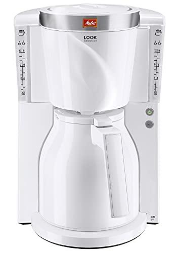 Melitta Look Therm Selection 1011-11, Filterkaffeemaschine mit Thermkanne, AromaSelector, weiß Filter-Kaffeemaschine, 1.2 liters