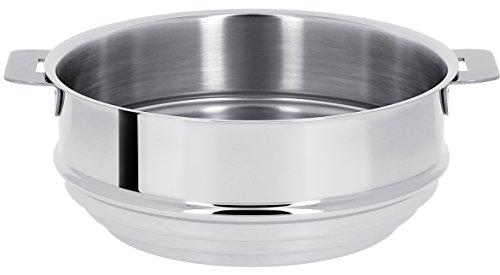 Cristel-CVU20Q-Cuit-vapeur universel inox 20cm sans poignée amovible - Collection Mutine