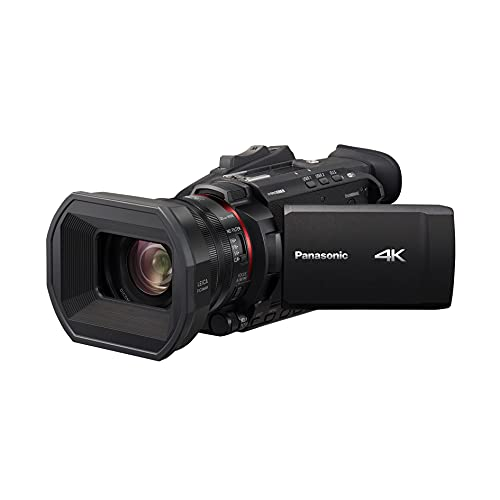 Panasonic HC-X1500E - Videocámara 4K (lente Leica, Live Streaming, gran angular 25 mm, zoom óptico de 24x, Wifi), negro