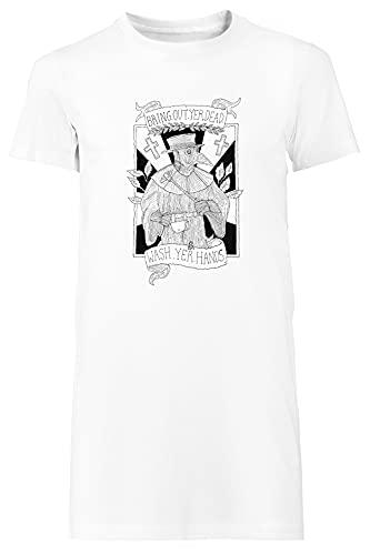 Bring out Yer Dead Camiseta Mujer Largo Vestir Blanco T-Shirt Women