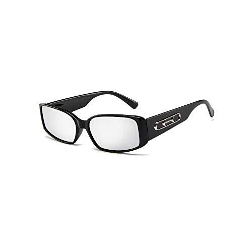 Más Vendido de las Señoras de la Vendimia Pequeño Marco de Moda Para las Mujeres de Verano Plaza de Lujo de gafas de sol 2020 Marco negro + lente de espejo.
