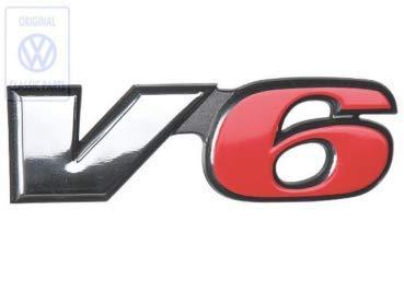 Emblem für VW Transporter T4 Schriftzug Logo Chrom rot 7d0853679eqw V6