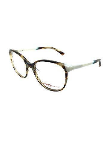 ETNIA BARCELONA LEIRA HVTQ 53, occhiali da vista da donna, montatura in havanna marrone combinato in turchese.