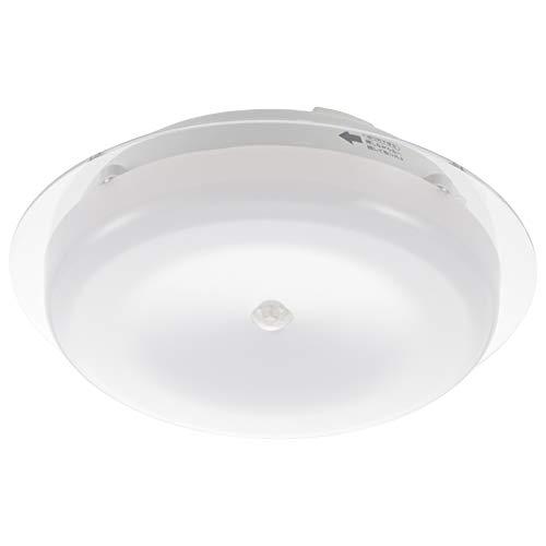 オーム電機 LEDセンサー付ミニシーリングライト 1500lm 昼白色 LE-MCES15N 06-3504 OHM (約)直径184×高さ64mm(プラグは含まず)