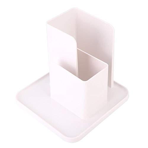 Emoshayoga Caja de Almacenamiento de Escritorio ABS Multifuncional no fácil de rayar para Estudiantes(White)