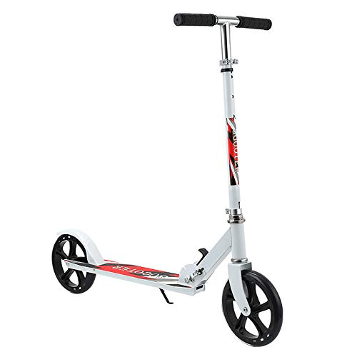 LIYANJJ Scooters, 2 Ruedas Kick Scooter Patinete de Estilo Libre Plegable Unisex 3 Niveles Altura Ajustable Patineta para desplazamientos Peso máximo Carga 50 kg para Adultos