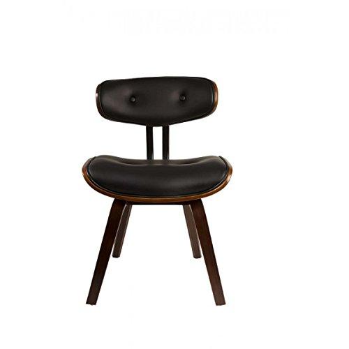 zuiver Blackwood Chair, # 1100240, Multiplex-Holzgestell farbe Walnuss mit Sitz - und Rücken PU-Leder schwarz