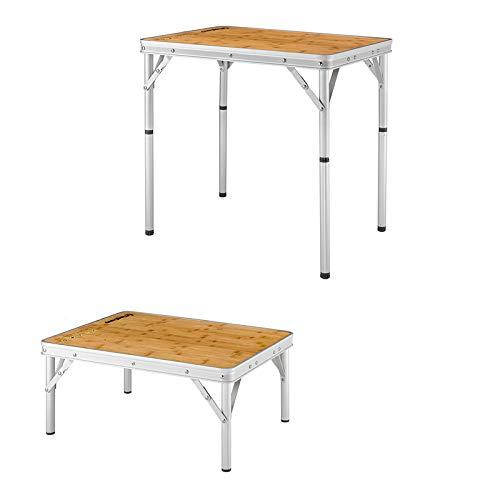 KingCamp アウトドアテーブル 高さ27~59cm調整可能 ハイテーブル&ローテーブル両用 折りたたみ 超軽量 コ...