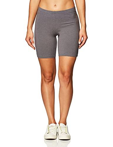 Hanes Women's Stretch Jersey Bike Short, Charcoal Heather, Larg