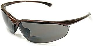 遠近両用 二重焦点 老眼付き スポーツサングラス DRWK02 +2.50 ケース付き