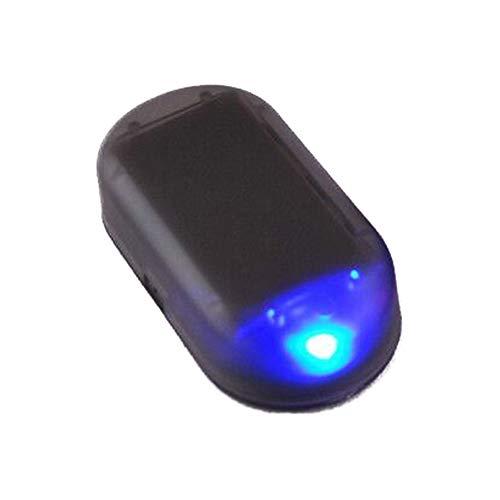 AAGOOD Azul Solar Simulación de Alerta simulador Falso Aviso de Seguridad antirrobo de automóviles Luces de Luces de Aviso de Advertencia antirrobo Luces de señal se Enciende Las Luces del Coche LED