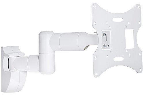 ProperAV Brazo oscilante inclinable y Giratorio 23-43 Pulgadas hasta 30 kg Soporte de TV - Blanco