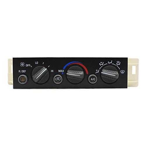 Weelparz Air Conditioning Panel Control Switch 16231165 16238885 599-006 for 1996-2000 GM C Yukon Suburban C1500 C2500 C3500 K1500 K2500 K3500 Chev y Suburban Tahoe C1500 C2500 C3500 K1500 K2500 K3500