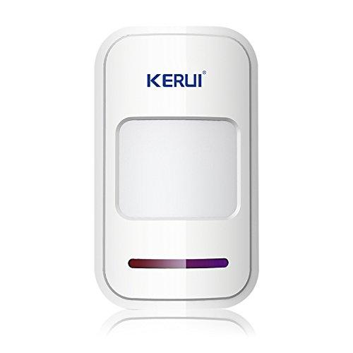 KERUI - Sistema de Alarma Inalámbrica, Sensores Infrarrojos Pasivos, Detectores de Movimiento por Infrarrojos, Sirena, 433 MHz, Seguridad para el Hogar