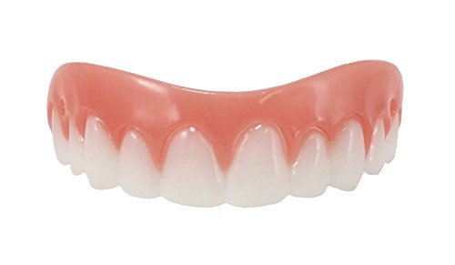 Instant Smile Comfort Fit Flex Cosmetic Teeth, Bright White Shade, Comfortable Upper Veneer, 1 Size Fits Most