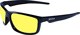 Night Driving Glasses with Sheer Vision Poly Double Sided Ar Coating - Ergonomic, Stylish Retro Black Frame Color - Also Comes with Replaceable Maxx Hd Lens and Three Night Driving Ar Lenses