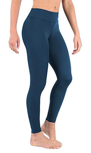 DeepTwist Damen Hohe Taillen Yoga Leggings Sport Trainings Hosen Laufen Yogapants, UK-DT4002-Teal-2XL