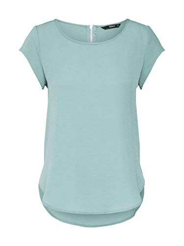 ONLY Damen ONLVIC S/S SOLID TOP NOOS WVN T-Shirt, Chinois Green, 38