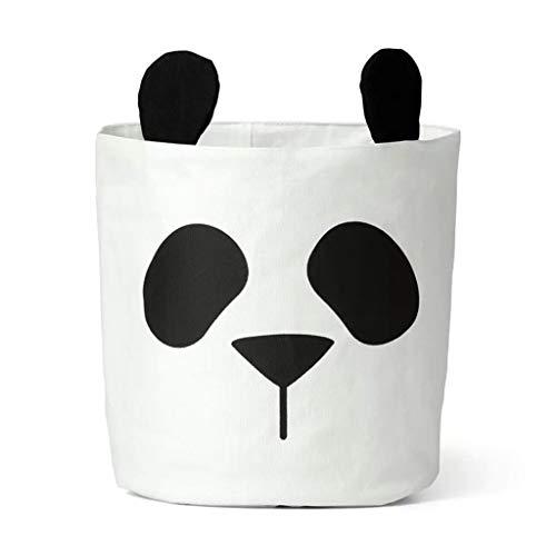 JJZXT Panda Bolsa de Almacenamiento Cesta Bebé Niños Juguete Ropa Lienzo Lavandería Cesta Bolsa de Almacenamiento Puede soportar Papelera Cubo de Almacenamiento en casa