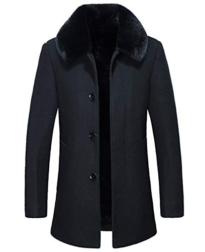 Men Coats With Fur Collar