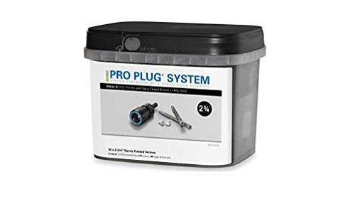 Pro Plug PVC Plugging System for AZEK Traditional Trim - Epoxy Steel - 375 pcs for 250 Lineal Ft.