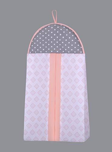 OptimaBaby 6 Piece Baby Nursery Crib Bedding Set, Little Puppy Dog Girl, Orange/Pink/White/Yellow/Gray