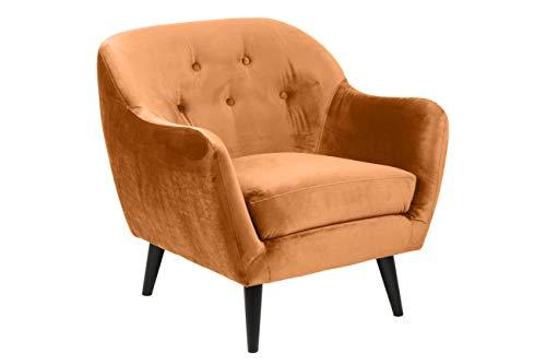 Amazon Brand - Movian Lina - Silla relax, 82 x 84 x 82 cm (largo x ancho x alto), naranja cobre, patas pintadas en negro