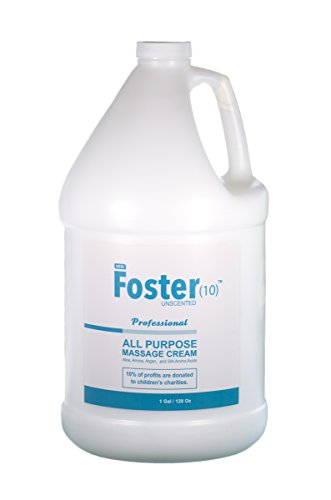 Massage Lotion That is Pumpable by Foster(10) Unscented All Purpose Massage Cream, Made with Argan Oil, Arnica Extract, Silk Amino Acids, Not Tested on Animals, Best Skin Hydration for You and Clients