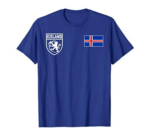 Iceland Icelandic Football Fotbolti Soccer Jersey Shirt T-Shirt