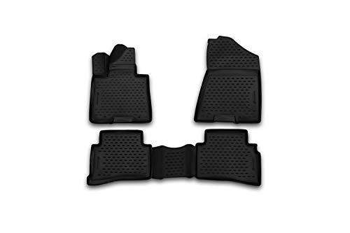Element EXP.CARKIA00005 3D Passgenaue Premium Antirutsch Gummimatten Fußmatten KIA Sportage IV QL 2016->, Schwarz, Passform