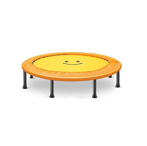 Trampolín Elástica de Jardín Inicio Interior y al Aire Libre Plegable Trampolín Bouncing Bed Gimnasio Disponible para Adultos y niños (Color : Yellow)