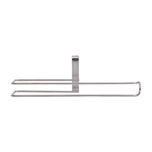 QUUY keukenrolhouder, roestvrij staal kastje tissue hanger Trace-Free papier handdoekhouder voor keukenkast top ladekast buis