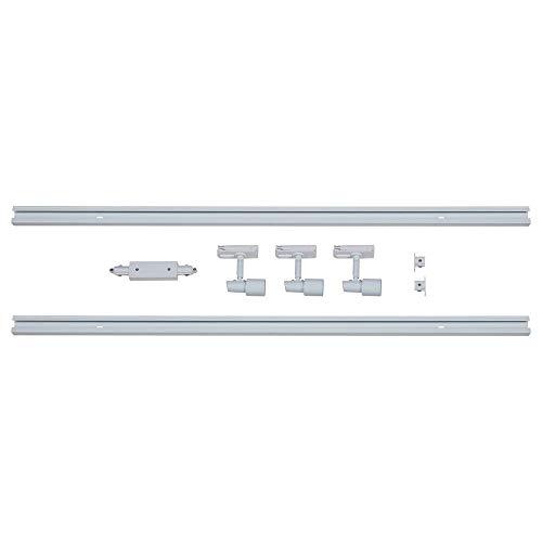 famlights 1-Phasen Schienensystem-Set Weiß 2m inkl. 3 Spots GU10 | zur individuellen Innen-Beleuchtung, schwenkbare Decken-Spots, Strahler-Schiene, Deckenstrahler, Deckenlampe, moderne Deckenleuchte
