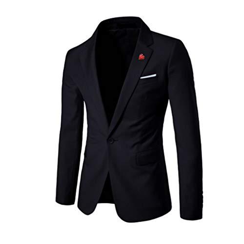 TWISFER Herren Anzüge Business Herren EIN Knopf Sakko Blazer Lässigherren Blazer Elegant Slim Fit Business Solid Sakkos Hochzeit Jacke