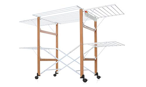 Foppapedretti Gulliver Falt drying rack, 105 x 80 x 174 cm, wood,...