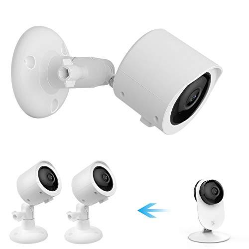 Soporte de montaje al aire libre para cámara de seguridad inteligente YI 3, cubierta protectora a prueba de intemperie y soporte...